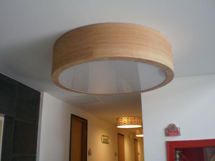 Lámparas decorativas en madera