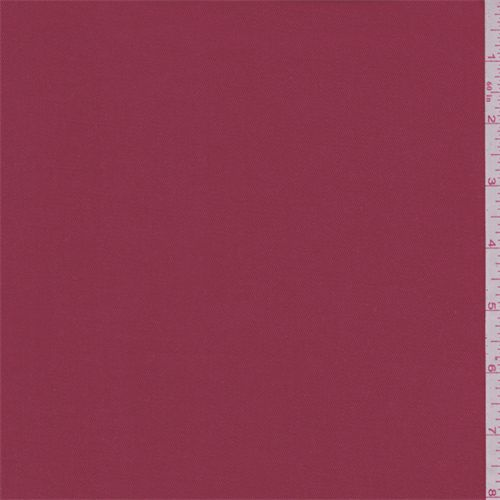 Solid radish red with a slight sheen. This dress weight cotton fabric has a slight stretch.Compare to $12.00/yd