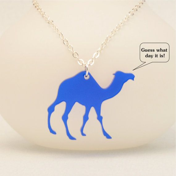 Laser Cut Camel Necklace  Hump Day Camel Jewelry by OttavaDesigns