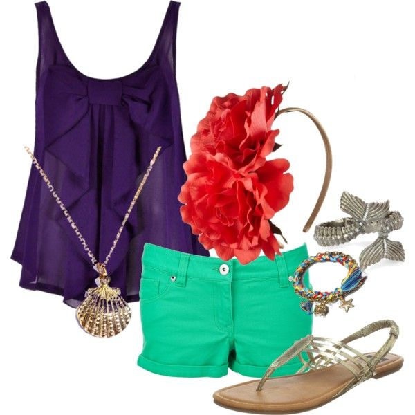 Hm... I might need an Ariel inspired outfit for Disney... yep, I do:)