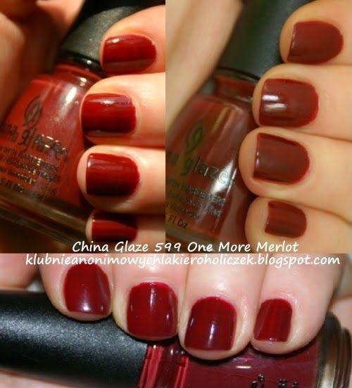 Klub Nieanonimowych Lakieroholiczek: China Glaze 599 One More Merlot