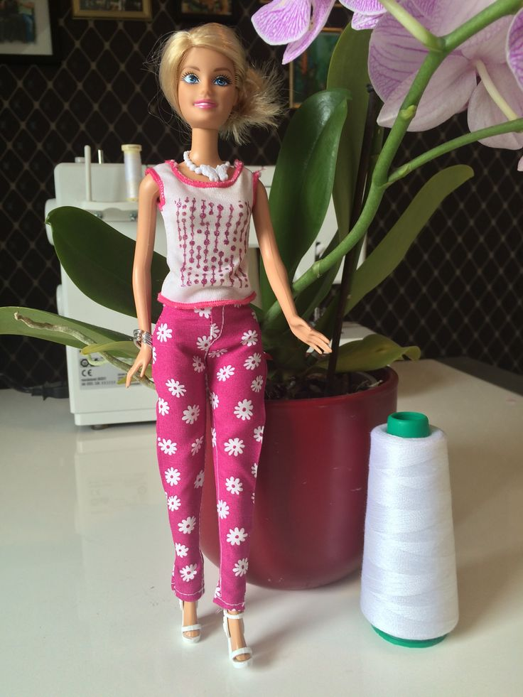 Barbie-Hose nähen - YouTube