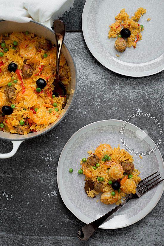 Receta Locrio De Mar Y Tierra Recipe Recipes Pinterest