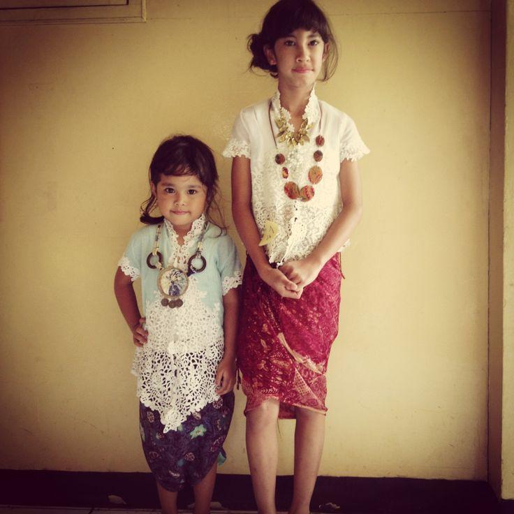 The girls in kebaya & kain for Kartini's Day.. Gorgeous!