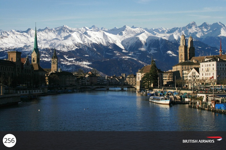 From Lake Zurich where you can see the snow-dusted Swiss Alps on a clear day, follow the Limmat River north as it splits Zurich in two.