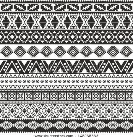 stock-vector-tribal-seamless-pattern-aztec-black-and-white-background-148268363.jpg (450×470)