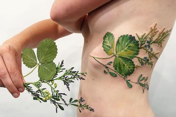"Rita ""Rit Kit"" Zolotukhina tattoos based on botanical fingerprints"