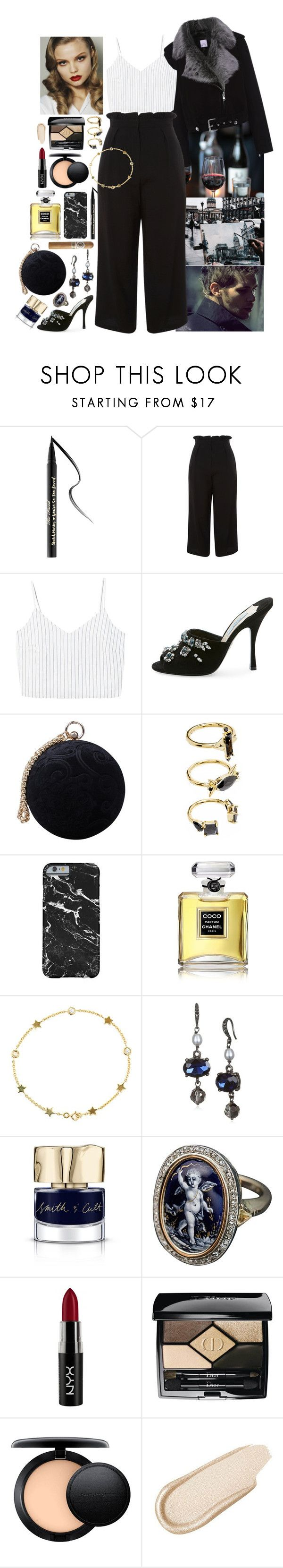 """""""Love Is Mystical - Cold War Kids"""" by leo8august ❤ liked on Polyvore featuring Too Faced Cosmetics, La Bête, Topshop, MANGO, Prada, Carvela, Victoria's Secret, Noir Jewelry, Chanel and Luis Miguel Howard"""