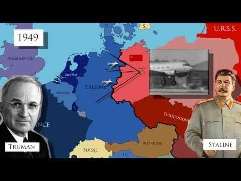 L'Allemagne et Berlin, symboles de la Guerre froide (1945-1990) ( carte animée) - YouTube