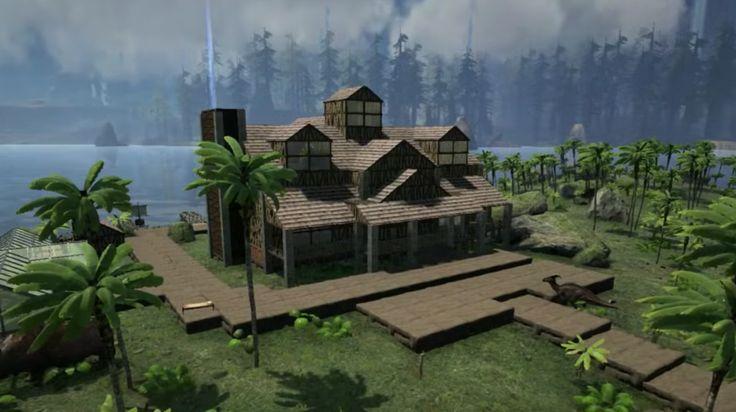 ark survival evolved huge house design video games ps4 pinterest huge houses. Black Bedroom Furniture Sets. Home Design Ideas