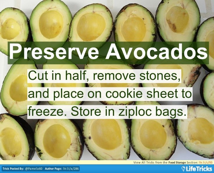 how to store avocados after cut