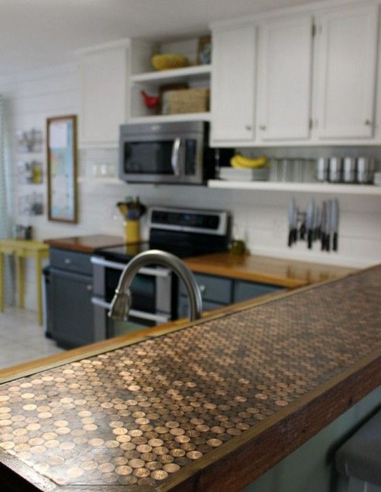 Beau Kitchen Unique Kitchen Counter Top Different Materials Bronze Industrial  Finished Top Unique Kitchen Countertops Of Different