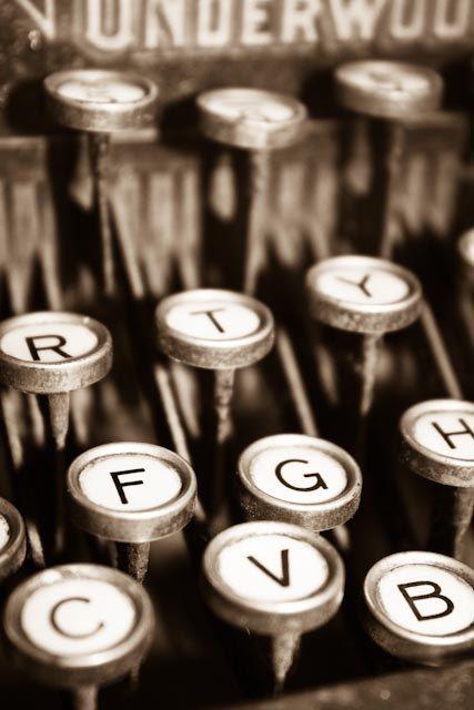 Paris Photography - Paris, France Love Letters 8x10 Fine Art Sepia Photograph antique typewriter - Paris Decor