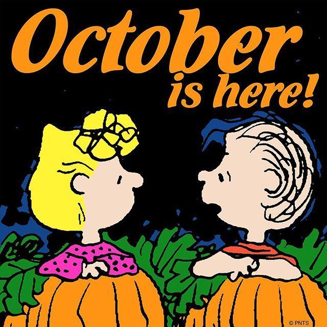 happy october peanuts - Charlie Brown Halloween Cartoon