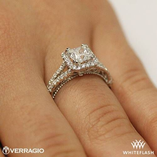 This Diamond Engagement Ring is from the Verragio Parisian Collection.