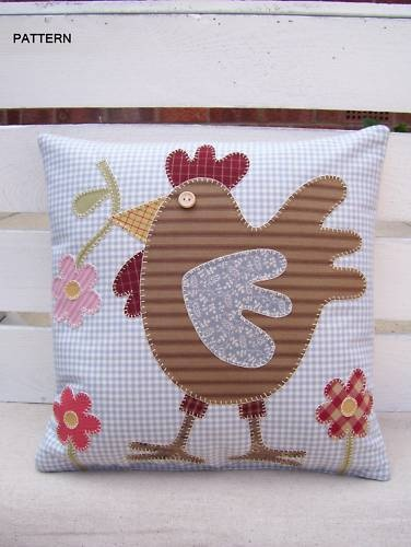 applique pillow I love roosters!!!