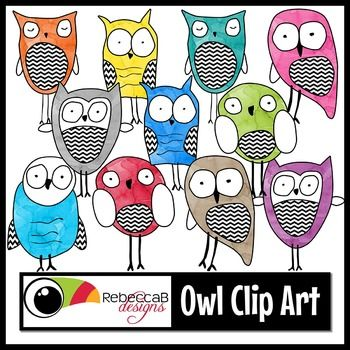 This Owl Clip Art set contains 72 images.  There are 6 different, illustrated, owls, each with a similar theme.  They come in 12 watercolors which includes black and white.  Import these clip art images into your editing program, such as PowerPoint, to create your own resources for resale, back to school classroom decor, worksheets, activities and other teaching resources.
