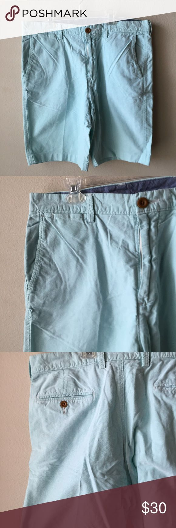 """Mens J. Crew Club Short Such a nice pair of shorts for the summer that will match with almost anything in his closet!             ⚜100% Cotton ⚜Measure approx 20"""" L ⚜Size 34W ⚜Color: Light Blue J. Crew Shorts"""