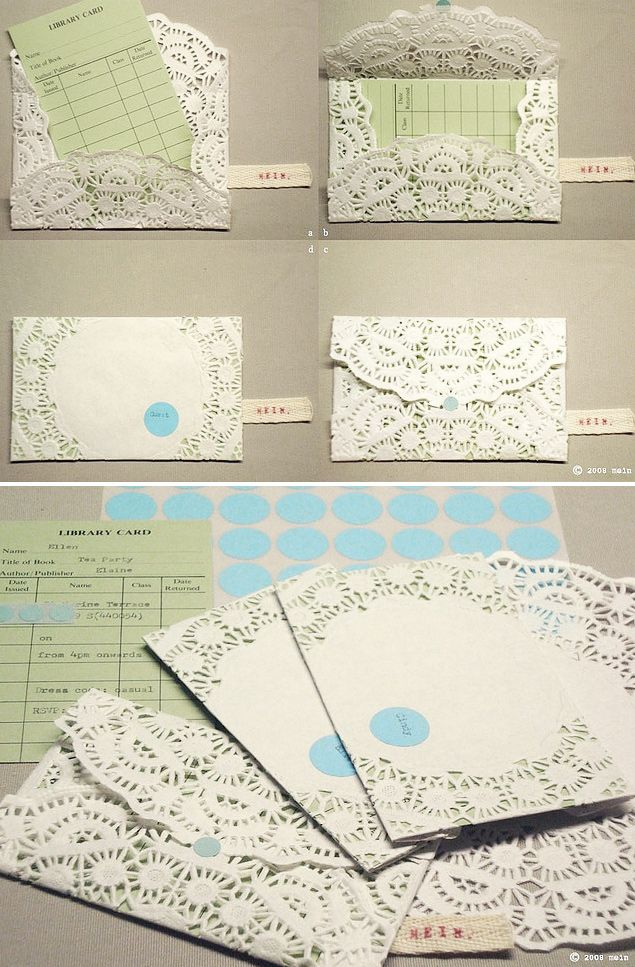 Doily Envelopes DIY - Full Step-by-Step Tutorial.
