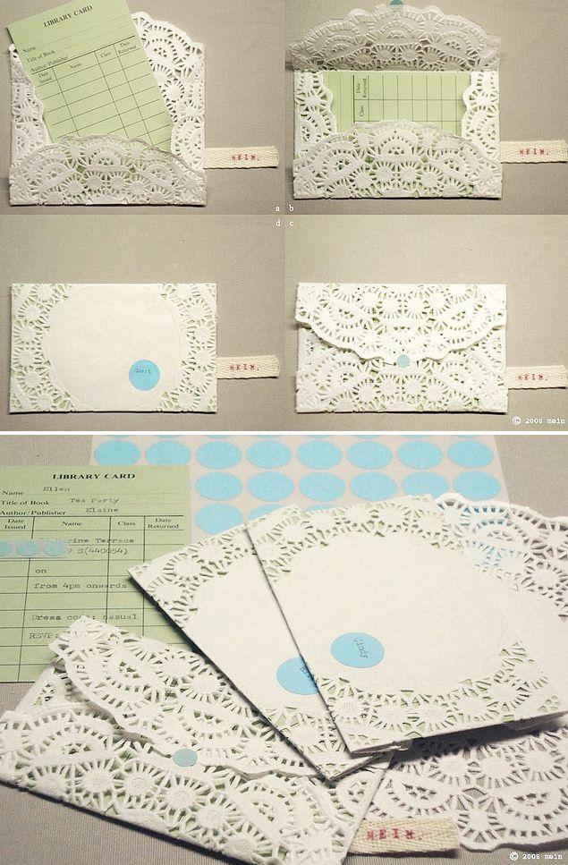 Doily Envelopes DIY - Full Step-by-Step Tutorial.