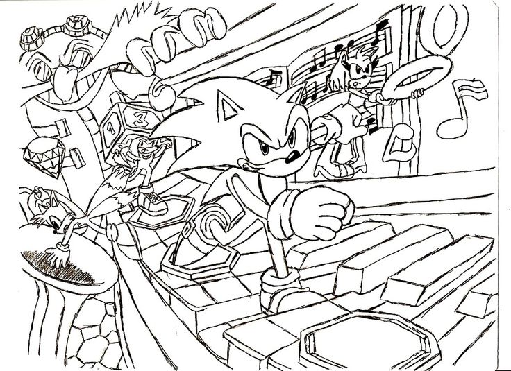 sonic adventure 2 coloring pages | Coloring pages, Color ...