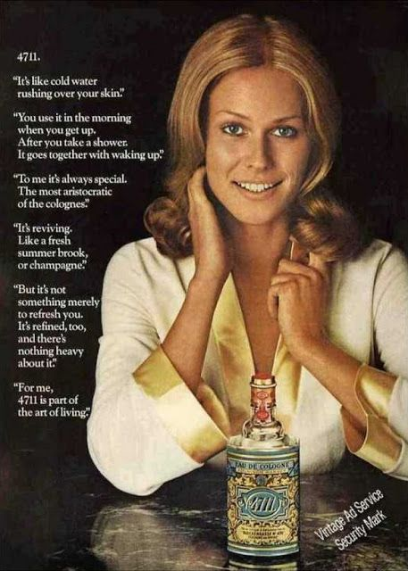 #Vintage ad for #4711 Eau de Cologne with commentary on societal context…
