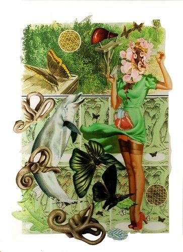 Mauricio Garrido - La Carta - collage 11¼ x 7¾ ins (28.50 x 19.99 cms)