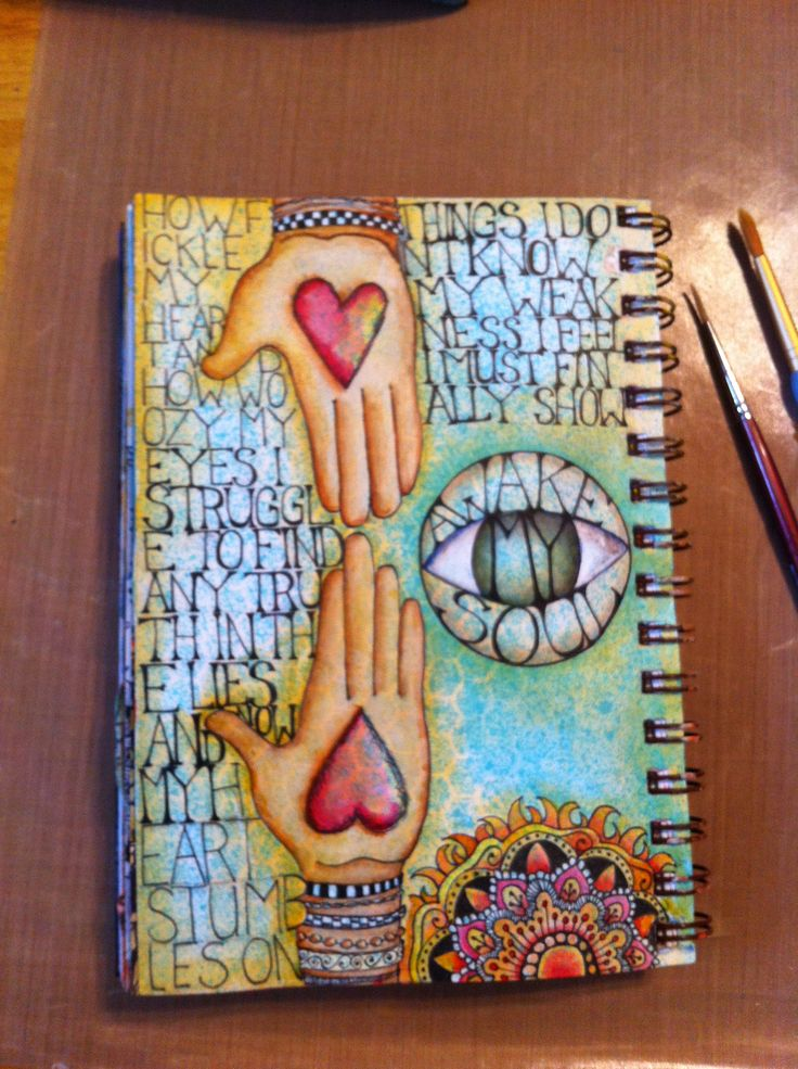 Art journal pages by annie beez foll art visual journal for Journal painting ideas