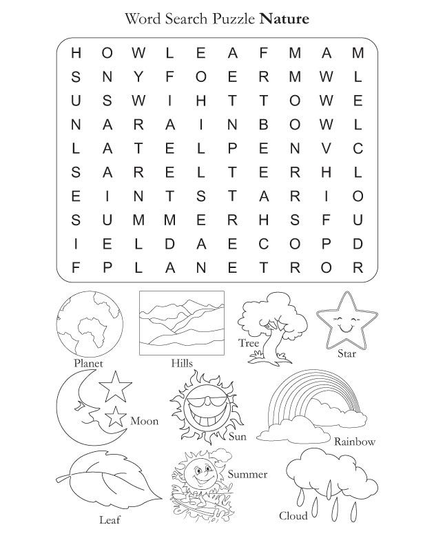 Word Search Puzzle Nature | Download Free Word Search Puzzle Nature for kids | Best Coloring Pages