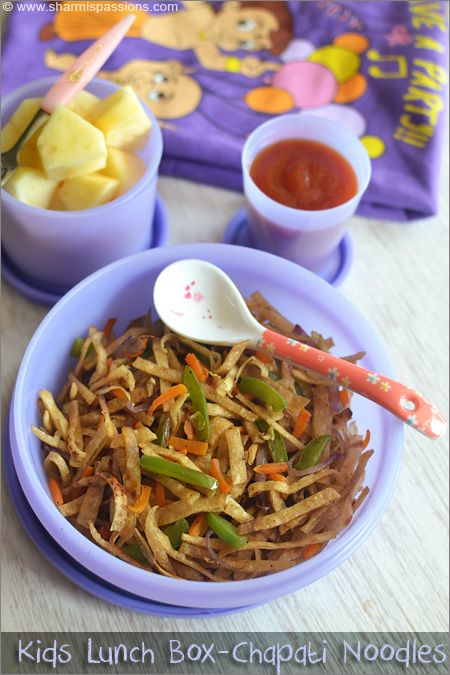 Kids Lunch Box Menu5 - Chapati Noodles