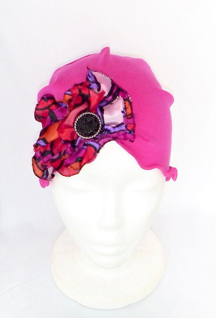 Women pink chemo hat,chemo headwear,bonnets,berets,breast cancer hat,chemo beanies, Chapeau chimio femmes,bonnet chimio,chapeau rose,béret,cancer du sein,  by BleukaktusHats on Etsy