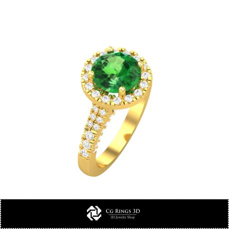 Round Multi Jewel Ring