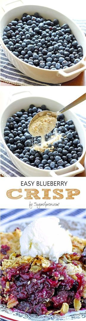 Is there any better way to enjoy blueberries than easy blueberry crisp recipe?
