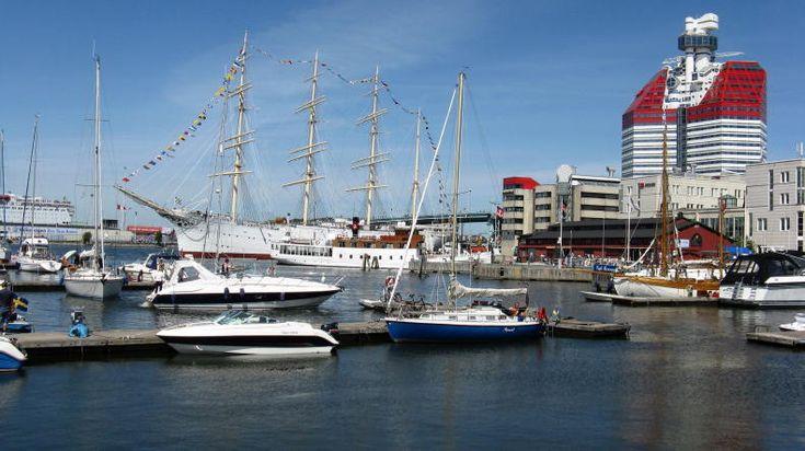 Hafen im Zentrum von Göteborg
