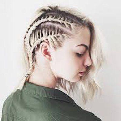 peinados para cabello corto de trenzas