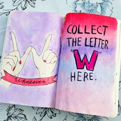 Collect the letter w