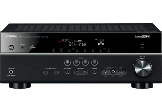 Yamaha 575 Watt 3D 5.1 Ch Network AV Receiver – Black: A V Receiving, 7 1 Ch, Yamaha 71, Discontinued Products, Av Receiving, Yamaha 7 1, Airplay, 5 1 Ch, Yamaha 575