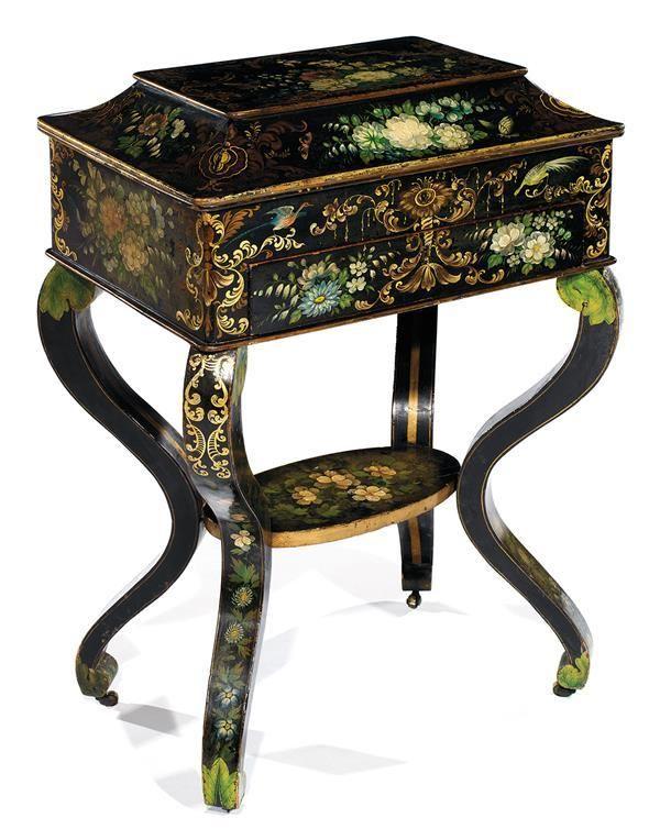 les 233 meilleures images du tableau meubles napoleon papier m ch et tole sur pinterest. Black Bedroom Furniture Sets. Home Design Ideas
