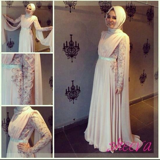 Beauts! #pink #drape #shoulder #pleat #abaya #lace #maxi #dress #hijab #style #turkish #crystal
