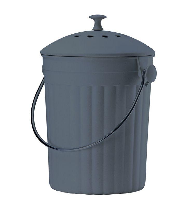 eddingtons slate eco compost pail bin bucket caddy indoor recycle worktop bamboo