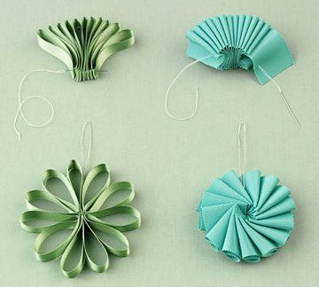 Ribbon bow ornaments