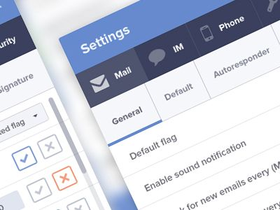 Settings email client by Jakub Antalík