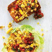 Halloumi and sweetcorn salad