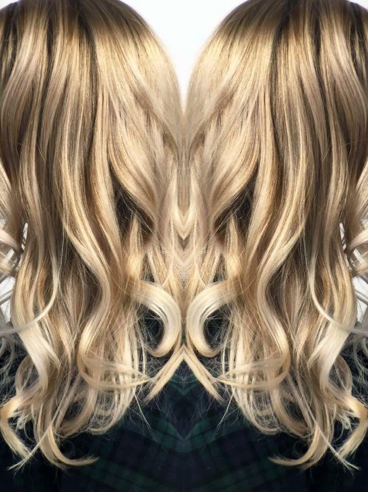Blonde balayage. Balayage. Platinum balayage. Bright blonde balayage. Bright blonde. Blonde hair. Blonde. Summer hair. Hair by Mallory at B Young Salon Wichita KS