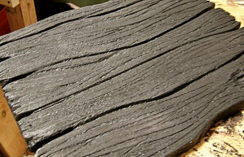 How to make wood from foam.