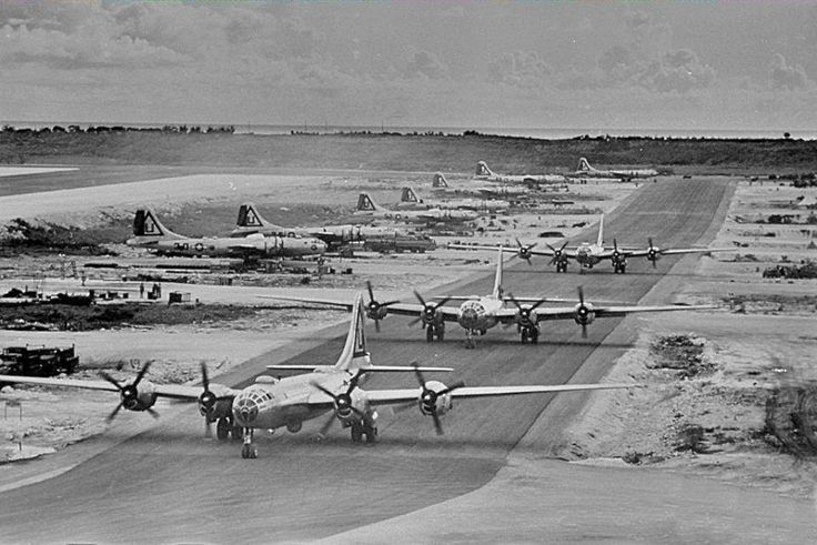 Jul 24, 1944 - B-29-BA 42-63504 named FLAG SHIP became the first Superfortress to land on the Marianas island of Tinian. Tinian would soon become the largest airfield in the world.