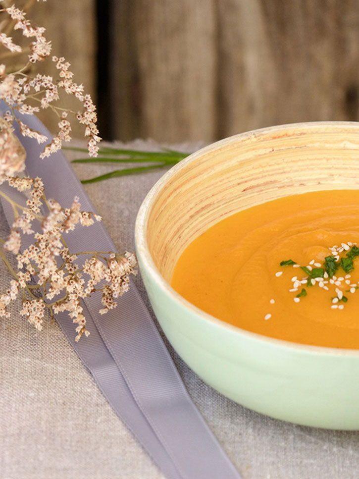 Soupe de carottes pamplemousse