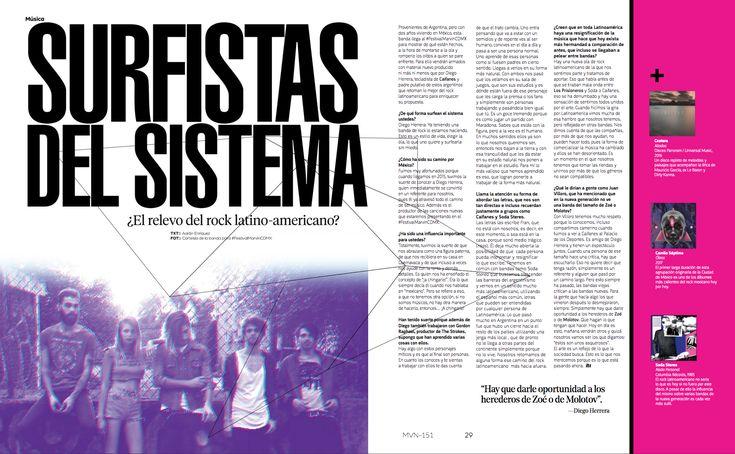 Música: Surfistas del Sistema  #SurfistasDelSistema #FestivalMarvinCDMX #RevistaMarvin #Marvin #ArtDirection #Magazine #EditorialDesign #Editorial #GraphicDesign
