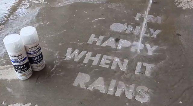 防水スプレーを使った雨の日の路面をステキに演出するアイデア
