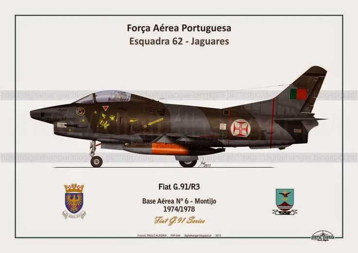 Fiat G.91 (1956) was an Italian jet fighter aircraft. It was the winner of the NATO competition in 1953 for a light fighter as standard equipment for Allied air forces. It entered in operational service with the Italian Air Force in 1961, with the West German Luftwaffe, in 1962, and later with the Portuguese Air Force. It was in production for 19 years.